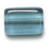 Glass Bead Flat 12x8mm Montana Rectangular Shape - Strung